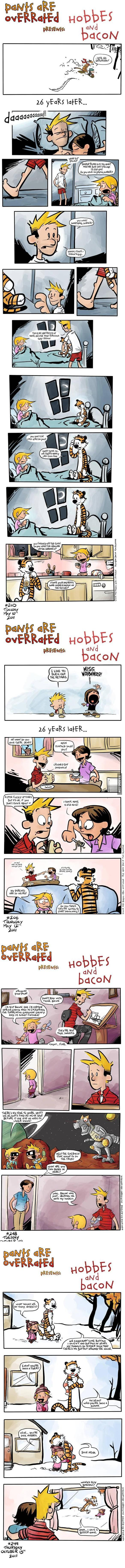A Comic Strip Of Calvin all grown up