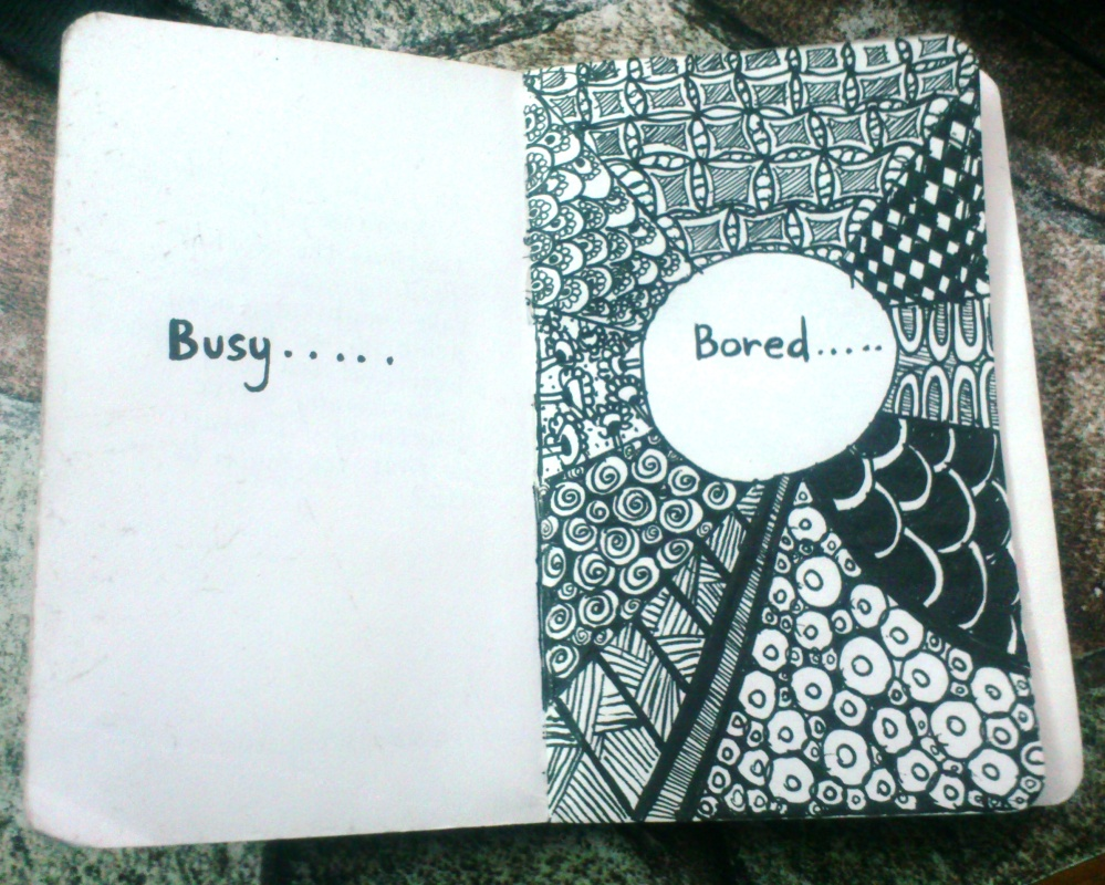 Busy-Bored Zentangle