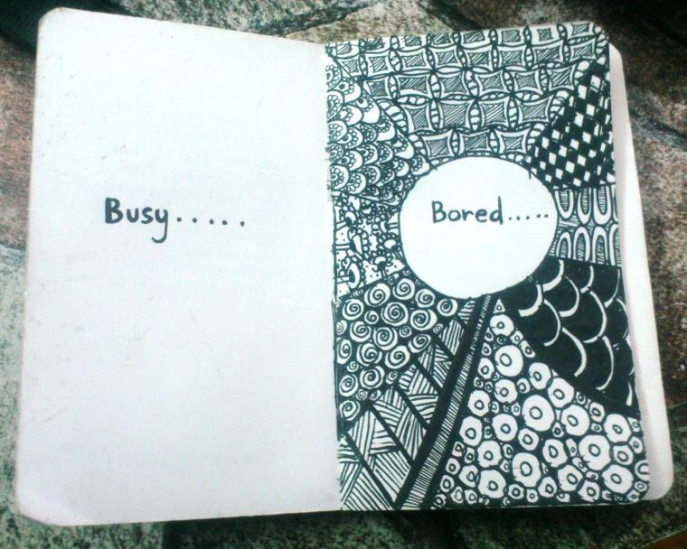 Busy-Bored Zentangle