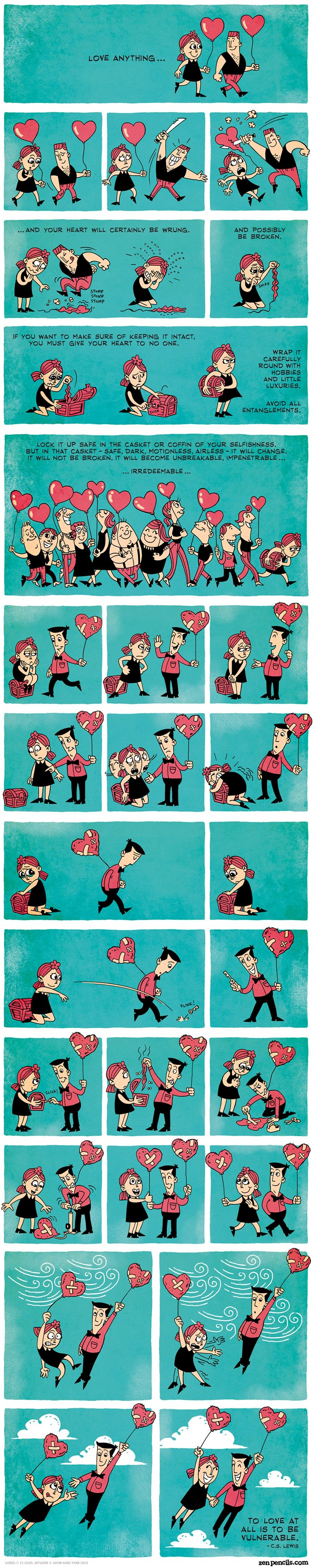 Cartoon about what love is
