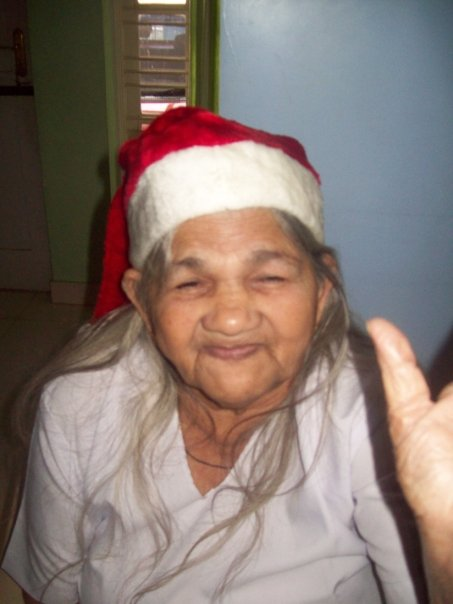 Grammie in a Christmas Hat