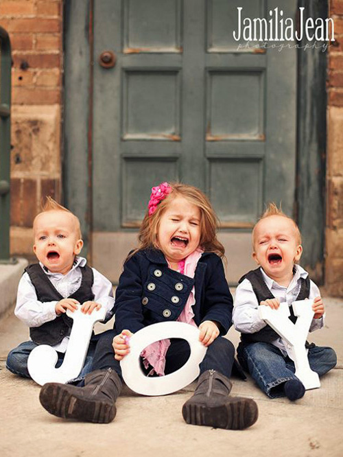 Christmas Photo Fail - Children