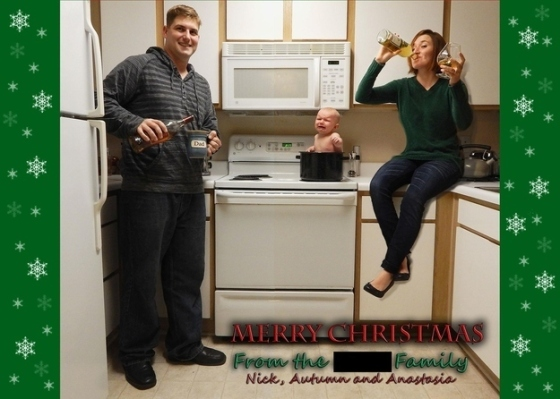 Parent Christmas Card Fail