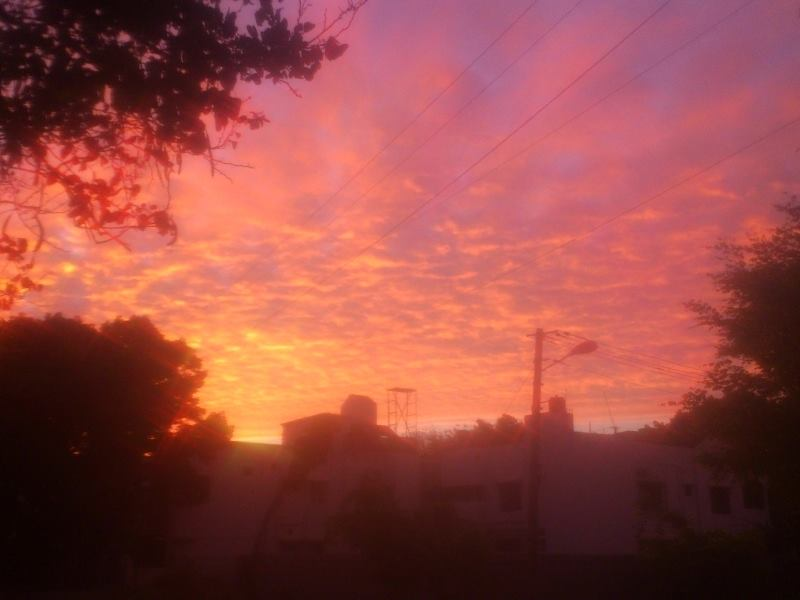 The Sunrise This Morning in Bangalore
