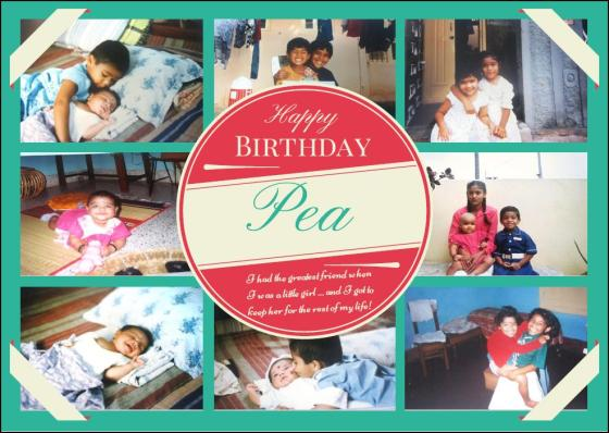 Happy Birthday Pea