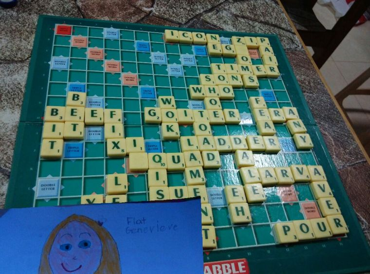 Flat G played a game of scrabble and annihilated the competition!