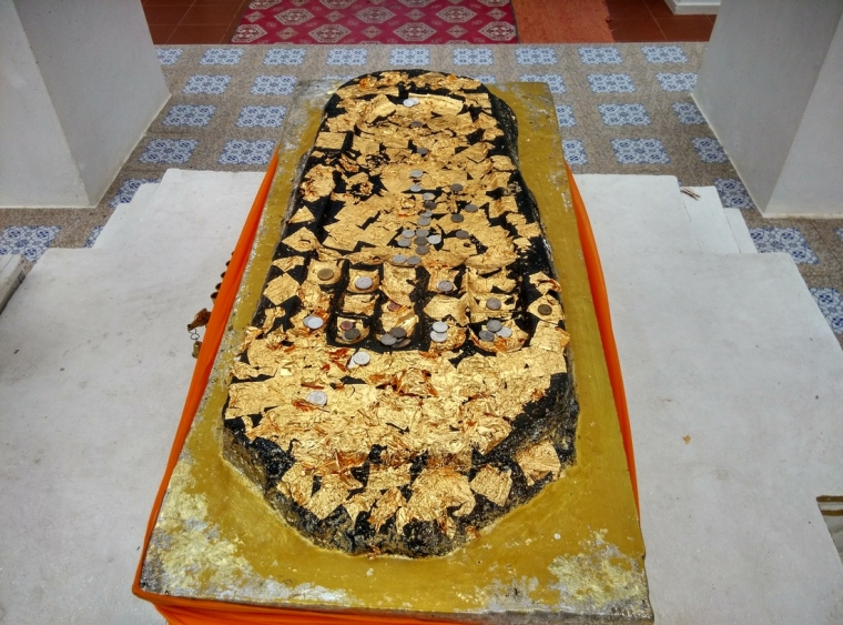 Another relic from India - Buddha's Footprint