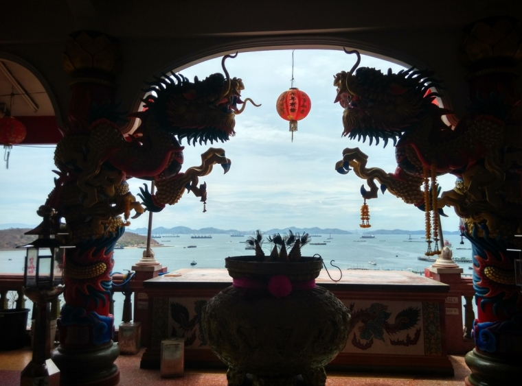 View from the old chinese temple at the top of Koh Sichang