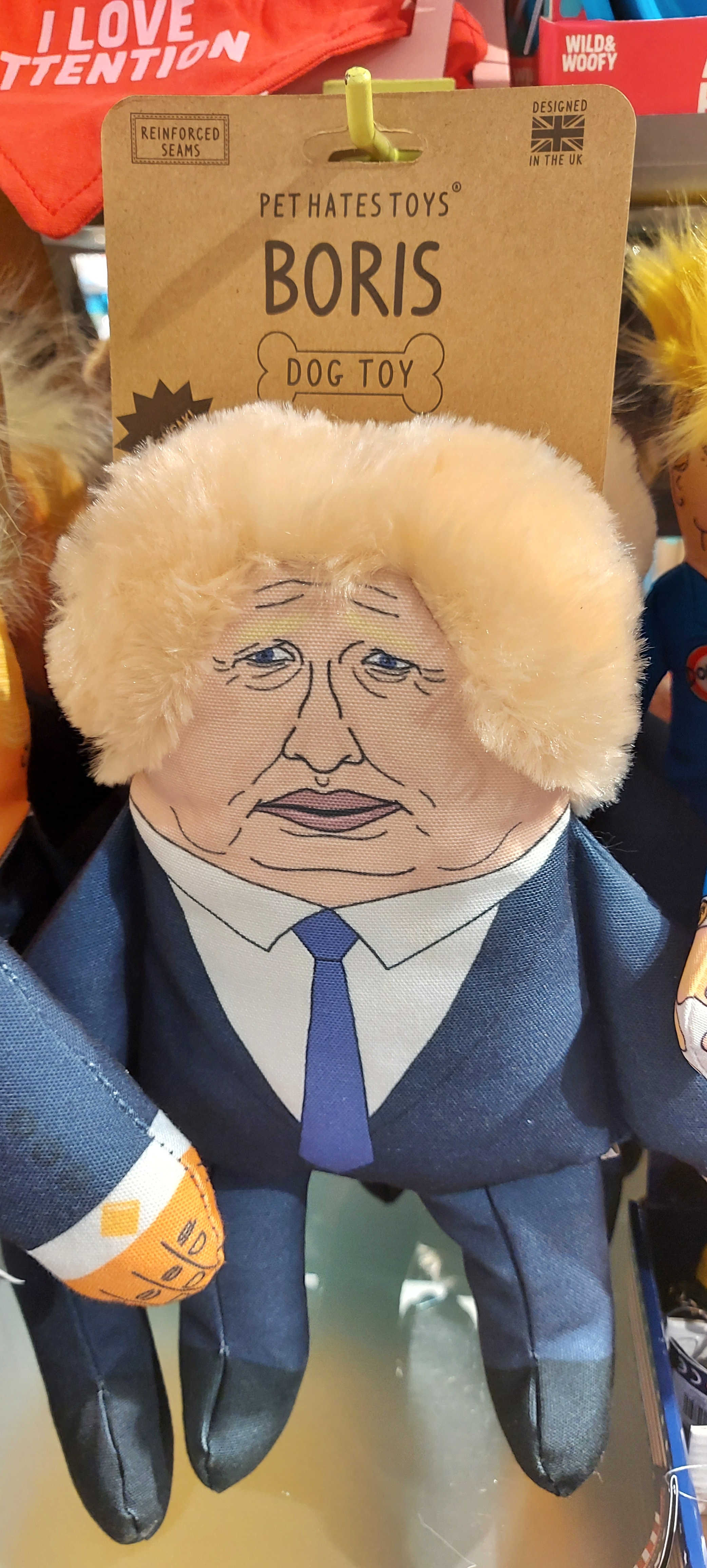 Boris Johnson Dog Toy